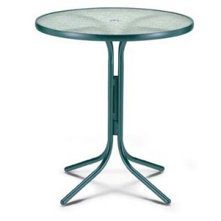 Telescope Casual 36 in. Round Glass Top Patio Bar Height Dining Table   Patio Tables