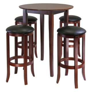 Winsome Fiona 5 Piece Round Pub High Table Set   Dining Table Sets