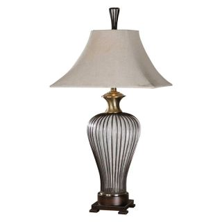 Uttermost Stoughton Table Lamp   34 in. Seeded Glass   Table Lamps