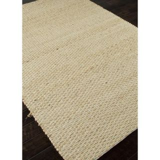 Jaipur Andes Braidley Natural Solid Pattern Jute/Cotton Rug   Area Rugs