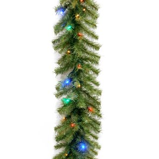 9 ft. Norwood Fir Pre Lit LED Garland   Battery Operated   Christmas Garland