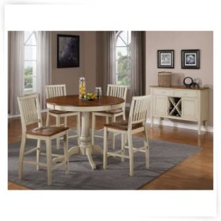 Steve Silver 5 Piece Candice Two Tone Counter Height Dining Table Set   Dining Table Sets