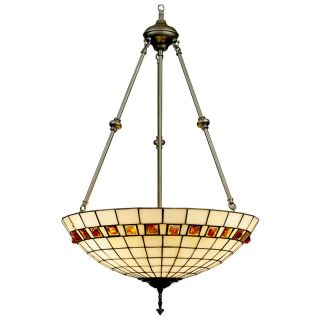 Dale Tiffany Geometric Jewel Inverted Fixture Pendant   Tiffany Ceiling Lighting