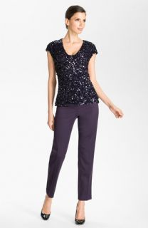 St. John Collection Sequin Top & Crop Pants