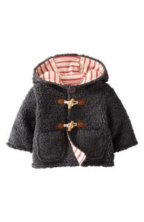 Mini Boden Fleece Duffle Jacket (Baby Boys)