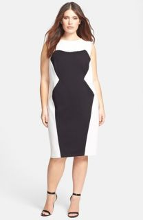 ABS by Allen Schwartz Colorblock Sheath Dress (Plus Size)