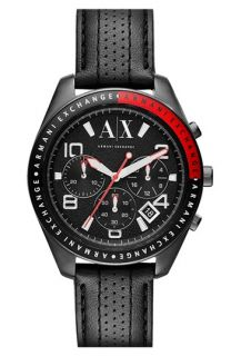 AX Armani Exchange Chronograph Leather Strap Watch, 40mm