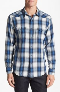 Lucky Brand Spearhead Plaid Western Shirt