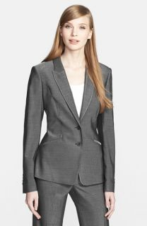 Michael Kors Cutaway Stretch Wool Jacket