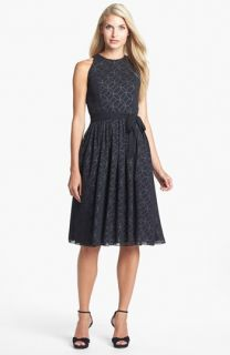 Isaac Mizrahi New York Print Chiffon Fit & Flare Dress