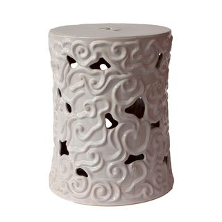 Urban Trends Collection White Ceramic Garden Stool Urban Trends Collection Vases