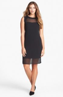 Jessica Simpson Illusion Chiffon Sheath Dress