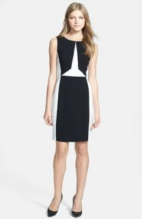 Ivanka Trump Colorblock Sheath Dress