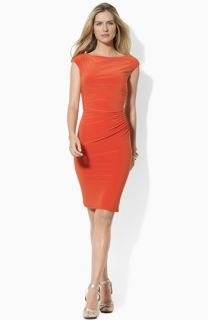Lauren Ralph Lauren Cap Sleeve Jersey Sheath Dress (Petite)