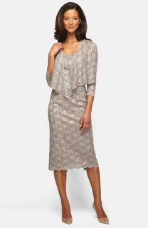 Alex Evenings Embellished Lace Pencil Dress & Jacket