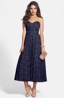 Hailey by Adrianna Papell Strapless Lace Party Dress