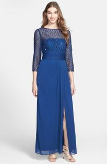 Patra Sequin Lace & Chiffon Gown