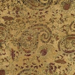 Lyndhurst Collection Paisley Beige/ Multi Rug (5' 3' Round) Safavieh Round/Oval/Square