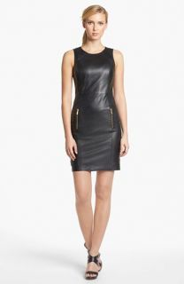 MICHAEL Michael Kors Sleeveless Leather Sheath Dress