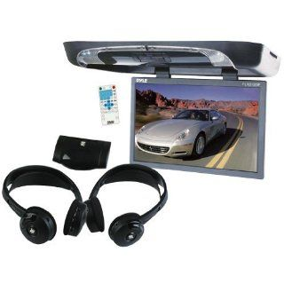 Pyle Great DVD System Package for Car/Truck/SUV    PLRD195IF 19 Inch Flip Down with Built in DVD/SD/USB Player with Wireless FM/ Modulator and IR Transmitter + PLVWH6 Dual Wireless IR Mobile Video Stereo Headphones with Transmitter.  Vehicle Dvd Players