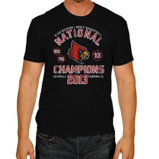 The Victory by Original Retro Brand Louisville Cardinals 2013 NCAA Mens Basketball National Champions Three Time Champs T Shirt   Black