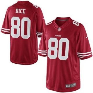 Nike Jerry Rice San Francisco 49ers Retired Limited Jersey   Scarlet