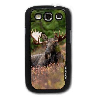 Moose Male Bull Sitting   Protective Designer BLACK Case   Fits Samsung Galaxy S3 SIII i9300 Cell Phones & Accessories