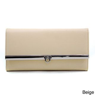 Dasein Women's Solid Tri fold Checkbook Wallet Dasein Women's Wallets
