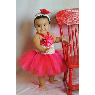 Red & Pink Tutu Valentine Dress Set Girls' Clothing