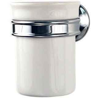 Hansgrohe Axor Montreux Wall mount Ceramic Tumbler/ Chrome Holder Set Hansgrohe Bath Accessories