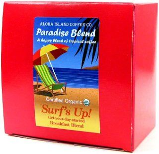 Surf's Up Breakfast Blend, Certified 100% Organic Coffee Pods, 36 Pods, From Aloha Island Coffee Grocery & Gourmet Food