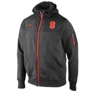 Nike College Stealth Full Zip Fleece Jacket   Mens   Football   Clothing   Syracuse Orange   Charcoal