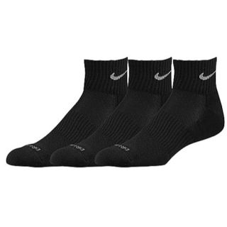 Nike 3 Pk Dri Fit 1/2 Cushion Quarter Socks   Mens   Training   Accessories   Black
