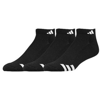 adidas 3 Stripe 3 Pack Low Socks   Mens   Training   Accessories   Black/White