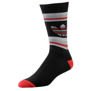 adidas Originals Trefoil Crew Socks   Mens   Casual   Accessories   Scarlet/Black/Tech Grey