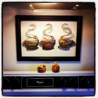 Coffee House Cup Mug Latte Java Mocha Metal Wall Art Home Decor   Wall Sculptures