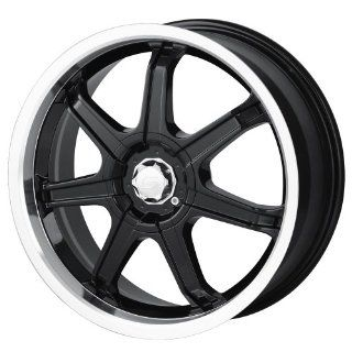 18x7.5 Sacchi S35 (235) (Black w/ Machined Lip) Wheels/Rims 4x108/108 (235 8720B) Automotive