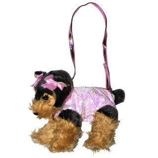 Poochie & Co. Girls Plush Sequin Puppy Purse Toys & Games
