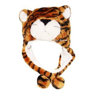 Soft Plush Faux Fur Tiger Beanie Hat Ear Flap Warm Winter Accessories Gift