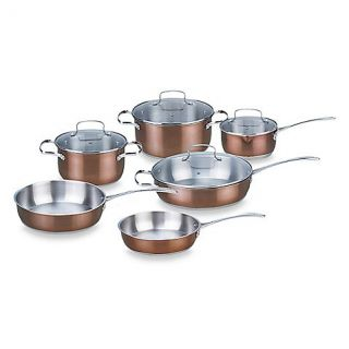 Buy Kevin Dundon 10 Piece Stainless Steel Cookware Set with Copper Color Accented Exterior from