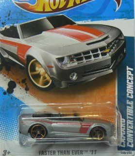 2011 Hot Wheels Camaro Convertible Concept Silver #149/244 Toys & Games