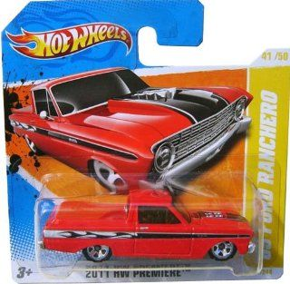 '65 FORD RANCHERO (RED) * 2010 2011 Hot Wheels #41/244 HW Premiere 41/50 164 scale car on SHORT CARD