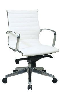 Magna White Chrome Swivel Chair