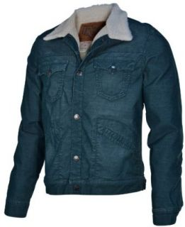 True Religion Brand Jeans Men's Cord Sherpa Jacket Coat Evergreen 3XL Clothing