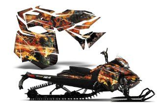 Firestorm AMRRACING Sled Graphics decal kit fits Ski Doo REV XM (2013 2014) Black Automotive