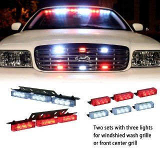 Nilight(TM)White Red 18x LED Emergency Car Vehicle Strobe Flash Lights For Windshield High Quality   Commercial Strobe Lights