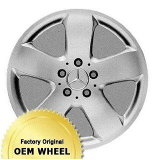 MERCEDES E320,E500,E CLASS 17x8 5 SPOKE Factory Oem Wheel Rim  SILVER   Remanufactured Automotive