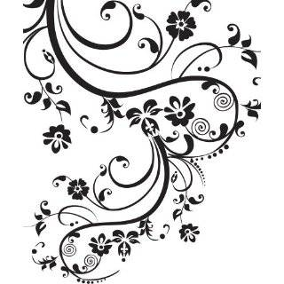 "Stickerbrand Vinyl Wall Art Decal Sticker Swirl Flower Floral Design #262A (100"" X 29"") #262A"