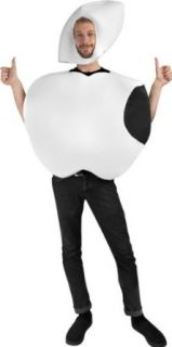 Adult White Apple Halloween Costume (Size Standard 44) Clothing