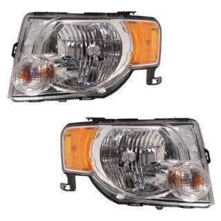 2008 2009 2010 2011 2012 Ford Escape & Hybrid Headlight Headlamp Composite Halogen Front Head Light Lamp Set Pair Left Driver And Right Passenger Side (08 09 10 11 12) Automotive